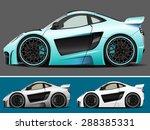vector modern cartoon car ... | Shutterstock .eps vector #288385331