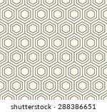 vector hexagon geometric pattern   Shutterstock .eps vector #288386651