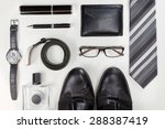 men accessories. black elegant... | Shutterstock . vector #288387419