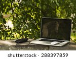 laptop sunny summer day in the... | Shutterstock . vector #288397859