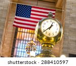 clock in grand central station... | Shutterstock . vector #288410597