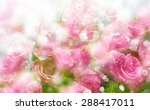 beautiful flowers made in soft... | Shutterstock . vector #288417011