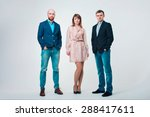 group of people in business... | Shutterstock . vector #288417611