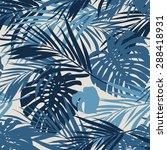 summer camouflage hawaiian... | Shutterstock .eps vector #288418931