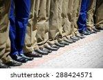 blue and khaki military uniform ... | Shutterstock . vector #288424571