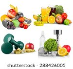 fit  fitness  food. | Shutterstock . vector #288426005