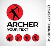 archer vector logo design... | Shutterstock .eps vector #288434135