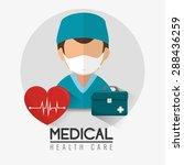 medical design over white... | Shutterstock .eps vector #288436259