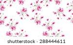 magnolia pattern  hand drawn... | Shutterstock . vector #288444611