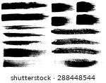 brush strokes set   Shutterstock . vector #288448544