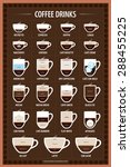 the coffee drinks infographics  ... | Shutterstock .eps vector #288455225