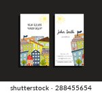 business cards with two sides... | Shutterstock .eps vector #288455654