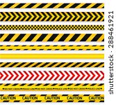 yellow with black police line... | Shutterstock . vector #288461921