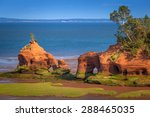 sandstone formations near paddy'... | Shutterstock . vector #288465035