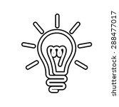 bulb symbol  vector | Shutterstock .eps vector #288477017