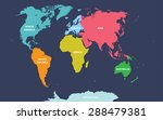 world map with continents names | Shutterstock .eps vector #288479381