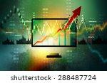 stock market business graph | Shutterstock . vector #288487724