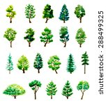 set of watercolor hand drawn... | Shutterstock .eps vector #288499325