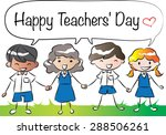 happy teacher's day | Shutterstock .eps vector #288506261
