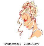 background with a portrait of ... | Shutterstock . vector #288508391
