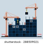 construction of tenement house... | Shutterstock .eps vector #288509021