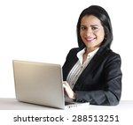 young business woman smiling... | Shutterstock . vector #288513251