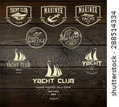 yacht club badges logos and... | Shutterstock .eps vector #288514334