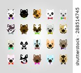 set of the dog face | Shutterstock .eps vector #288514745