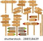 set of directional wooden signs ... | Shutterstock . vector #288518639