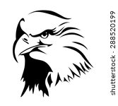 the head of an eagle. ink... | Shutterstock .eps vector #288520199