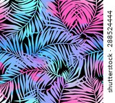 tropical palms seamless pattern ... | Shutterstock .eps vector #288524444