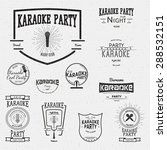 karaoke icons logos and labels... | Shutterstock .eps vector #288532151