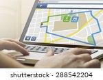 gps satellite navigation ... | Shutterstock . vector #288542204