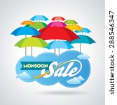monsoon offer and sale banner ... | Shutterstock .eps vector #288546347