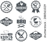 set of butcher shop labels and... | Shutterstock . vector #288561029