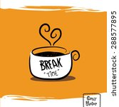 hand drawing coffee cup with...   Shutterstock .eps vector #288577895