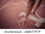 number 1 running track vintage... | Shutterstock . vector #288577979
