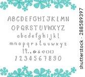cute alphabet on white... | Shutterstock .eps vector #288589397