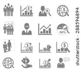 vector icon set business and... | Shutterstock .eps vector #288596894