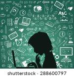 back to school   doodle set ... | Shutterstock .eps vector #288600797