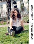 gorgeous plus size fashion model | Shutterstock . vector #288606005
