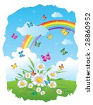 beautiful fantasy land picture | Shutterstock .eps vector #28860952