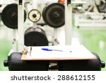 training plan in the gym | Shutterstock . vector #288612155