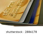 stack of credit cards with...   Shutterstock . vector #2886178