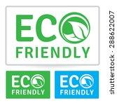 Eco Friendly Vector Label Design