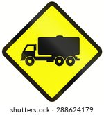 indonesian warning road sign  ... | Shutterstock . vector #288624179