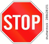 a standard stop sign in... | Shutterstock . vector #288628151