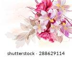 beautiful floral illustration... | Shutterstock .eps vector #288629114