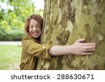 Very Happy Teen Blond Girl...