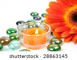 candle and flower | Shutterstock . vector #28863145